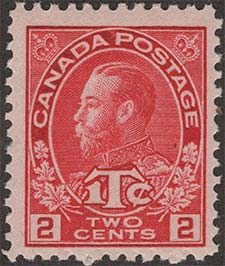 Roi Georges V 1916 - Timbre du Canada