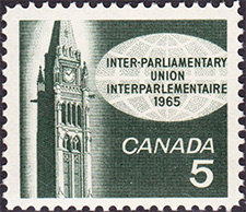 Union interparlementaire 1965 - Timbre du Canada
